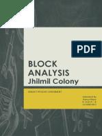 Jhilmil Colony - Block Analysis - Urban Study