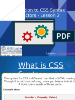 Introduction to CSS Syntax and Selectors - Lesson 2