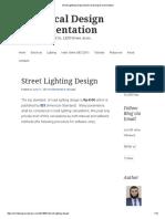 Street Lighting Design _ Electrical Design