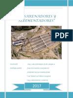 Informe Desarenadores y Sedimentadores