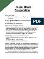Binaural Beats Presentation