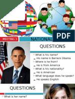 Meeting 3 - Countries & Nationalities