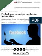Facebook Lanza Herramienta Para Detectar Noticias Falsas