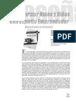 598-1697-1-Pb Como Formar Niños y Niñas Con Espiritu Emprendedor, Manual Para El Formador (Rev. Aen 2012, Libro Recomendado)