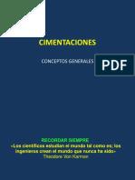 1.0 Cimentaciones Conceptos Generales
