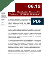 06.12 Rt 31- Vuelve El Revaluo Tecnico