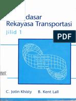 Dasar Rekayasa Transportasi Jilid 1