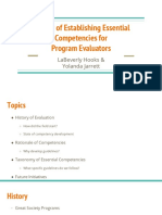establishing essential competencies for program evaluators  1