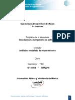 Unidad 2 Analisis y Modelado de Requerimientos