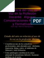 Importancia Del Uso de La Voz (PRC;2002)