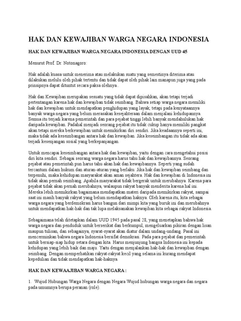Hak Dan Kewajiban Warga Negara Docx