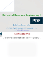 Review of Reservoir Engineering I