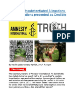 Amnesty  Unsubstantiated Allegations and Fabrications presented as Credible Truths.docx