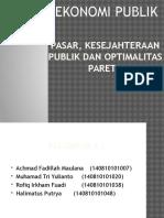 PASAR, KESEJAHTERAAN PUBLIK DAN OPTIMALITAS PARETO.pptx