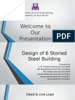 Design of 6 Storied Steel Building