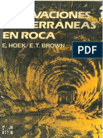 Excavaciones Subterraneas en Rocas Hoek Brown PDF