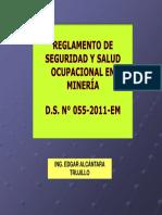 ANALISIS DEL REGLAMENTO DE SEGURIDAD Y SALUD OCUPACIONAL EN MINERIA DS 055-2010-EM.pdf
