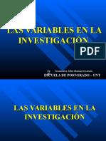 Variables, Hipotesis