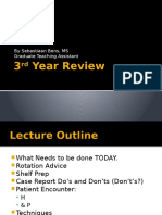 3rd Year OMM Review