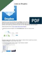 Como Criar Uma Conta No Dropbox
