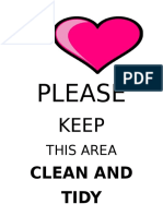 PLEASE Keep Clean