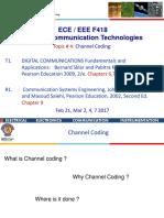 ECE EEE F418 Channel Coding Feb 21, Mar 2, 4, 7,9 2017