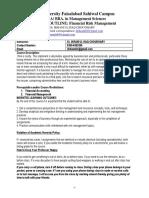 Financial Risk Management Course Outline (1)