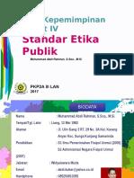 Standar Etika Publik PIM IV