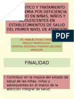 Diagnostico y Tratamiento Anemia Ferropenica Norma Tecnica