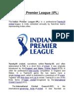 IPL Indian Premier League