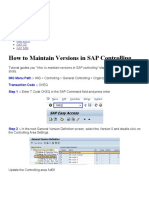 How to Maintain Versions in SAP Controlling – SAP Training Tutorials