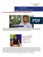 Transcription_Choosing the Right Legal Structure