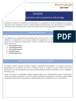 Summary_Analysing Environment & Competitive Advantage