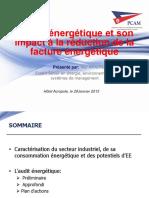 Présentation de l'Audit Énergétique Par M Néji AMAIMIA, Expert PCAM