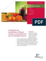 Quantification of Ethanol Content in Consumable Fruit Juices by Headspace Injection