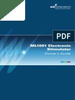 5258-B Manual, Owner's Guide, Electronic Stimulator