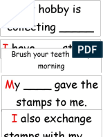 Sentence Strip My Hobbies