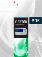 Transformer Protection Relay GRE160 Brochure 12027-1 0