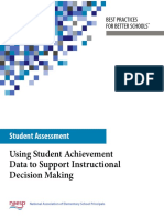 assessment data-student achievement blue
