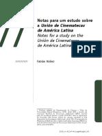 Notas para um estudo sobre a Unión de Cinematecas de América Latina (Fabián Núñez, 2015)