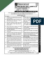 resonance online test paper