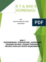 Bab 7 8 Rekombinasi Presentation