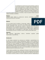 El texto argumenta que la viabilidad de la democracia puede abordarse a partir de tres enfoques.docx