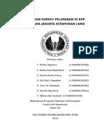 Laporan Survey Etika Pegawai Negeri Sipil Dalam Pelayanan Di Kpp Pratama Kebayoran Lama