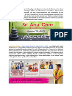 Sri Acu care Clinic- Dr Kalyani's Acupuncture Treatment in Tirupati | Speciality pain care India