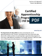 Certified Apprenticeship Programs Helps Fill Skills Gap