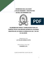 Vulnerabilidad Sísmica y Diseño Estructural de Puentes Típicos Una Revisión Sistemática Utilizando Registros de Los Sismos Ocurridos en 1986 2001 en El Salvador