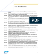 OpenSAP Ds1 Week 1 Transcript