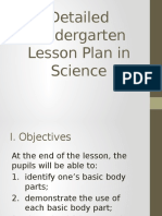 Detailed Kindergarten Lesson Plan in Science