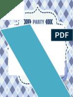 Simple Blue Boy Party Invitation